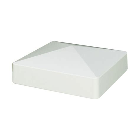 solar powered post caps home depot veranda 4 in x 4 in white vinyl solar powered pyramid fence post cap 144426 the home depot