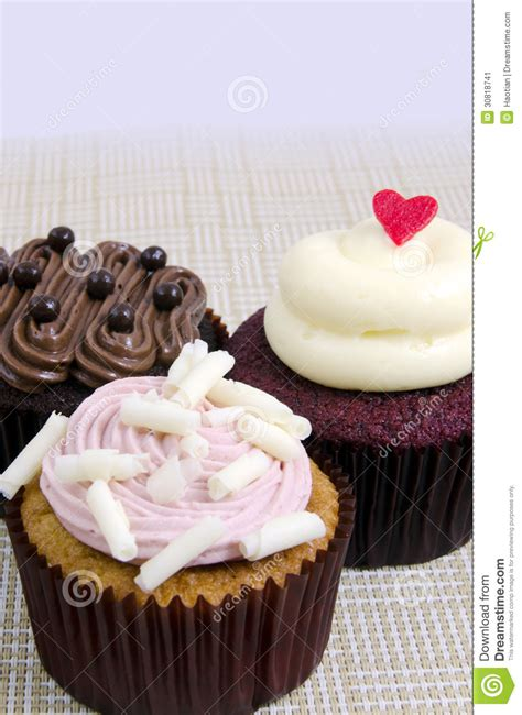 various fancy cupcakes stock image image 30818741
