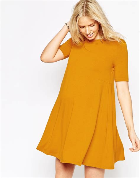 Asos Maternity Swing Dress With Seam Detail And Short
