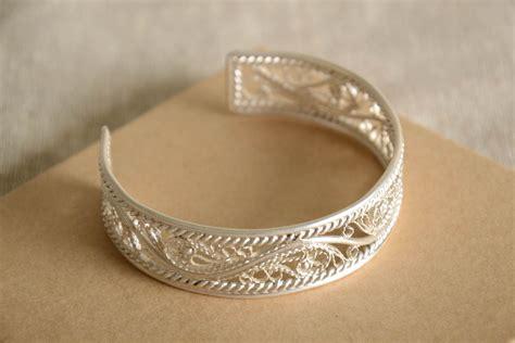 Lace Bracelet madeheart gt handmade metal lace bracelet cuff