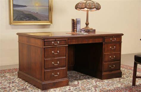 sold jofco walnut traditional vintage executive desk