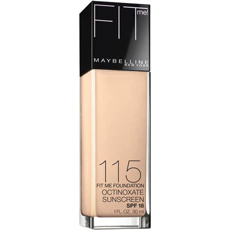 Maybelline Foundation Fit Me maybelline new york fit me foundation ivory 115 1 fl oz