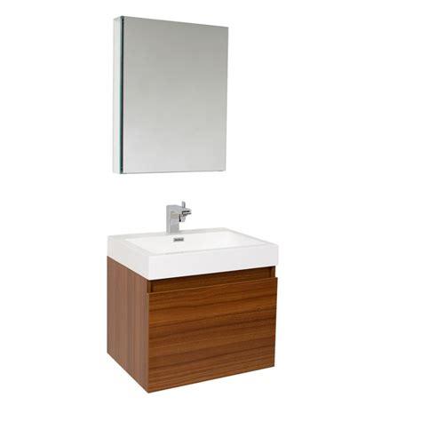 Vanity Medicine Cabinet by 23 5 Inch Teak Modern Bathroom Vanity With Medicine