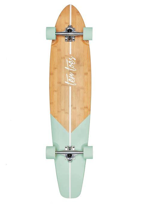 cruiser longboard ten toes board emporium zed bamboo longboard skateboard