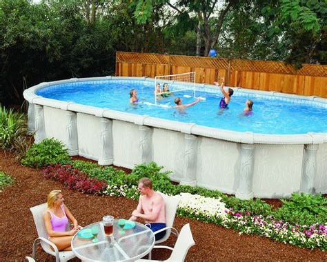 Backyard Swimming Pools Above Ground This Shape Pool Above Ground Pools Above Ground Pools Outdoors Ground