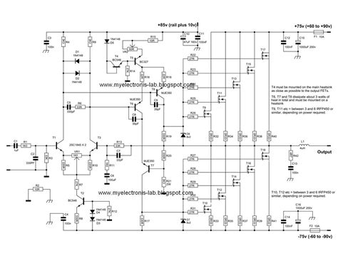 600 Watt Mosfet Power Amplifier Circuits Circuit