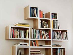 Unique Bookshelves Unique Design Of Criss Cross Bookshelf With White Wall
