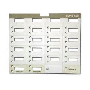 10 At T Lucent Avaya Partner 18d Eurostyle Paper Labels 18 Button Display Phone Ebay Avaya Phone Template