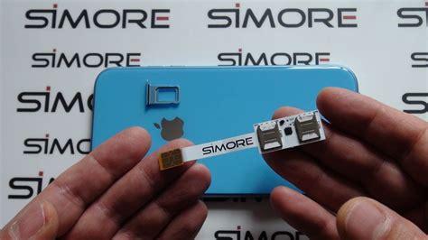 iphone xr dual sim adapter 4g for iphone xr ios 12 simore speed x xr