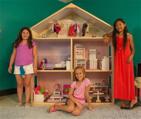 diy 18 inch doll house my girl s dollhouse allows girls to build their own dollhouse for 18 inch dolls