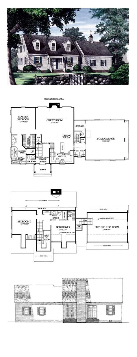 Cape Cod Floor Plan Cape Cod Traditional House Plan 86102 House Plans Cape Cod And Capes