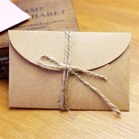 Handmade Paper Envelope - handmade mini kraft paper envelope 5 8x9cm 200pcs lot in