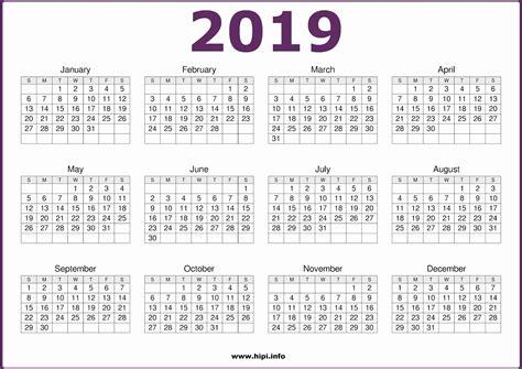 Calendar Headers Printable