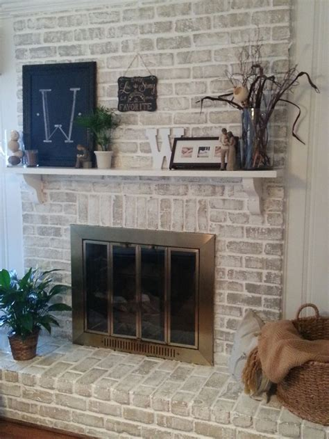 25 best ideas about white wash fireplace on
