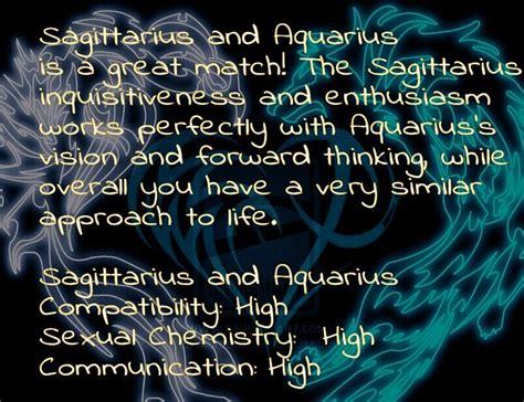aquarius female and sagittarius male sagittarius