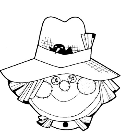 scarecrow head coloring page abc school pinterest