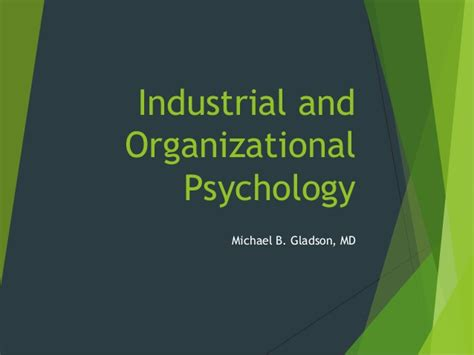 Industrial Organizational Psychology With Mba by Industrial And Organizational Psychology