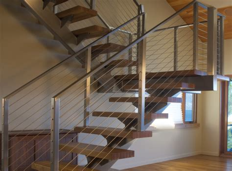 modern banisters for stairs stair cable railing modern staircase by ultra tec