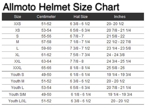 motocross helmet sizing youth motorcycle helmet sizing chart motorcycle parts