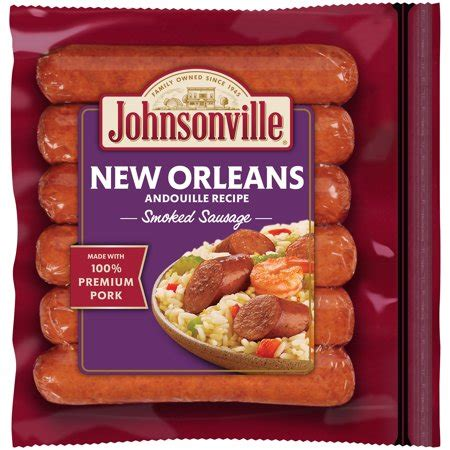 brats new orleans johnsonville new orleans andouille smoked sausage 14oz