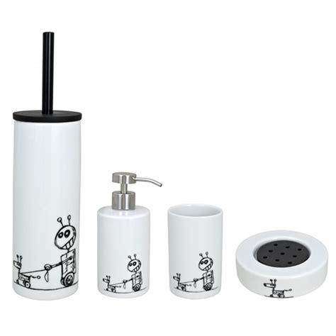 Wenko Bathroom Accessories Wenko Robots Porcelain Bathroom Accessories Set At Plumbing Uk