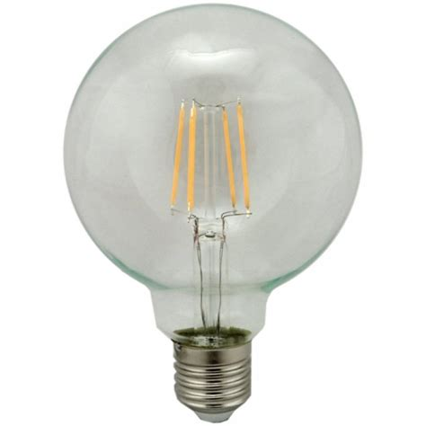 Led Globe Light Bulb G95 Globe Led Filament Light Bulb 4w Warm White Es Cap