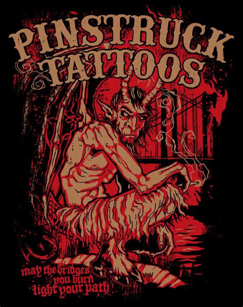 pinstruck tattoo logo design tshirt design pinstruck tattoos bridges
