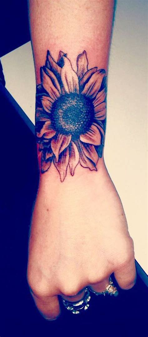 sunflower tattoo wrist 20 of the most boujee sunflower ideas