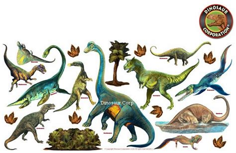 jurassic world removable dinosaur wall stickers 39 inch x
