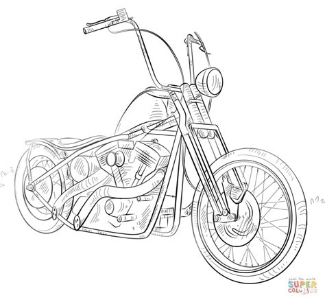 Chopper Motorcycle Coloring Pages | chopper motorcycle coloring page free printable coloring