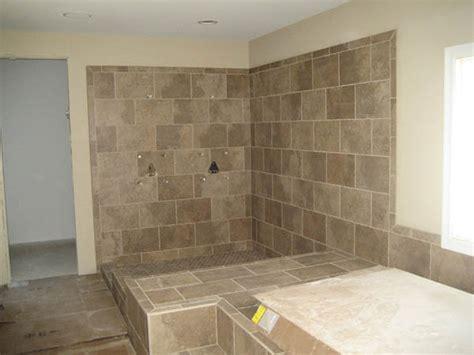 Doorless Shower Design by Doorless Showers With Bench Studio Design Gallery