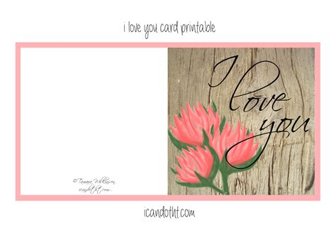 I You Printable Cards printable i you cards printable 360 degree