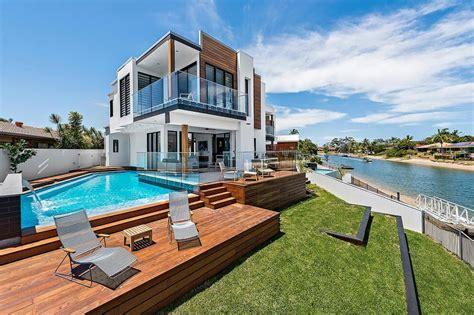 casa de la playa dise 241 o casa moderna dos pisos con piscina