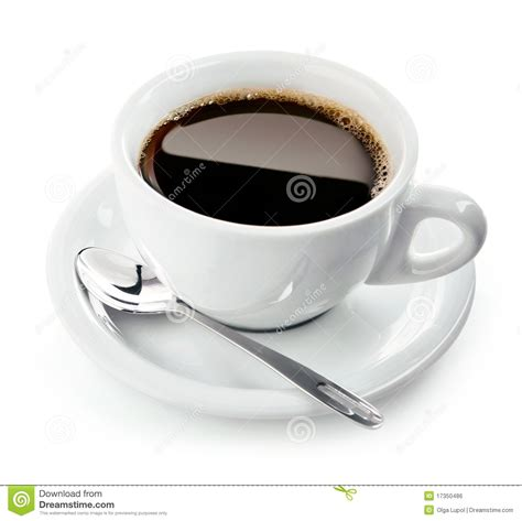 Coffee Cup With Saucer cup of coffee on saucer with spoon stock photo image of