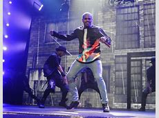 Chris Brown Performs in Bleached Jeans - Denimology Leather Jackets For Women Light Brown