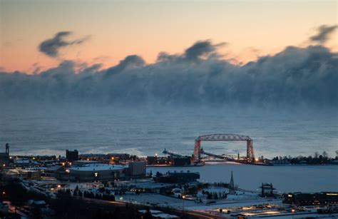 lake superior sea smoke photos video frigid temps bring gorgeous sea smoke to