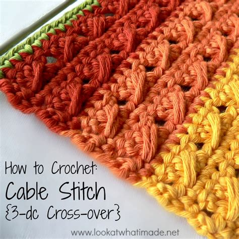 How to crochet cable stitch look at what i made