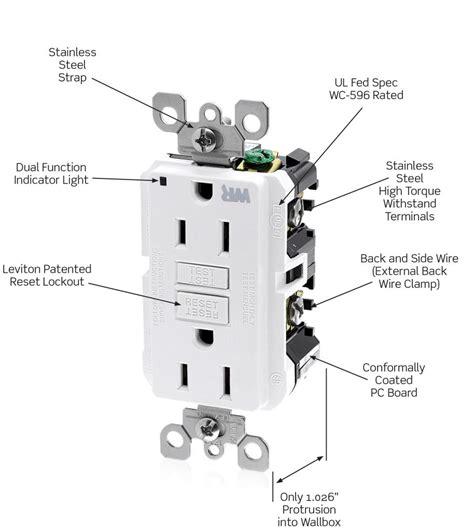 leviton gfci receptacle wiring diagram leviton gfci outlet
