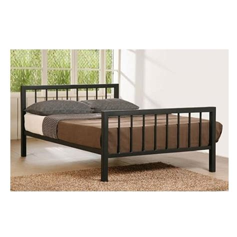 slatted bed frame black micro slatted metal bed frame double 4ft 6 quot