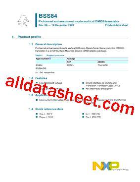 diodes inc bss84 bss84 datasheet pdf nxp semiconductors