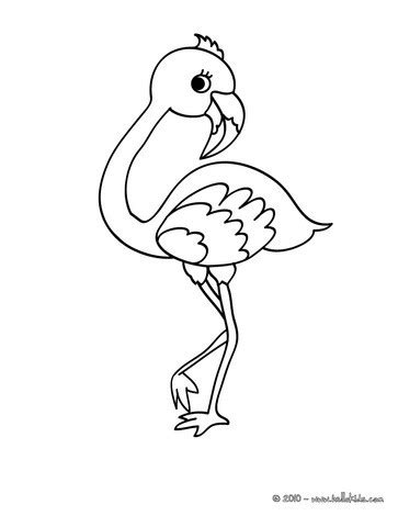 cute flamingo coloring pages hellokids com