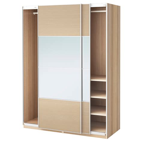 armoire pax ikea pax wardrobe white stained oak effect auli ilseng