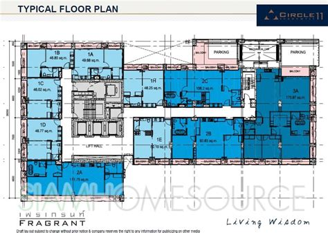 typical floor plan circle sukhumvit 11 new luxury condo project fragrant
