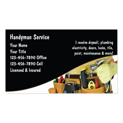 handyman services business card template handyman business cards search engine at search