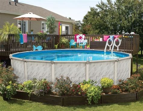landscaping around above ground pool 25 best ideas about above ground pool landscaping on