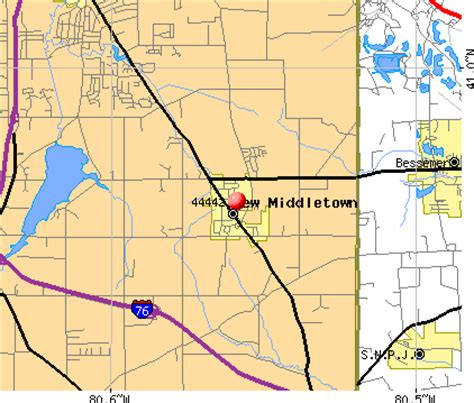 map of middletown ohio 44442 zip code new middletown ohio profile homes