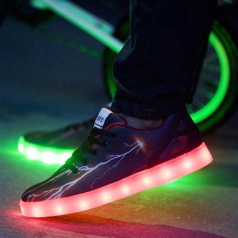 new type 2015 7 colors led luminous shoes for usb