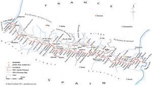 map of the senda pirenaica gr11 la senda pirenaica