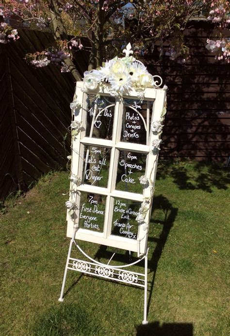 Running order of the day display wedding decoration
