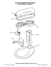 Parts for KitchenAid KV25G0XCV5 Mixer   AppliancePartsPros.com